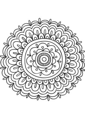 Coloriage mandala fleur 3 coloriage mandalas coloriages chiffres et formes - Coloriage fleur 3 ans ...