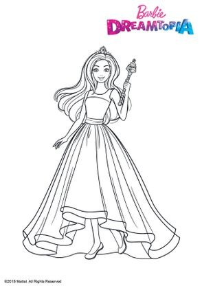 Coloriage barbie princesse arc en ciel coloriage barbie dreamtopia coloriages dessins animes - Dessin de barbie facile ...