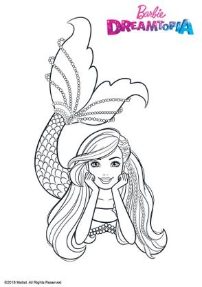 Coloriage barbie sir ne multicolore coloriage barbie - Barbie sirene coloriage ...