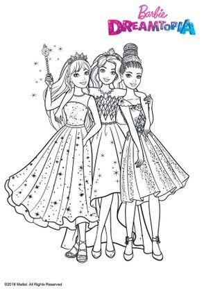 Coloriage princesse au royaume des paillettes coloriage barbie dreamtopia coloriages dessins - Dessin anime de barbie princesse ...