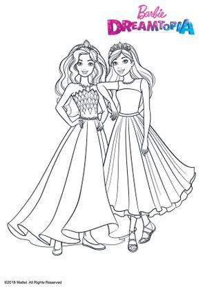 Coloriage princesses paillettes coloriage barbie dreamtopia coloriages dessins animes - Dessin anime de barbie princesse ...