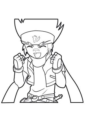 Coloriage gingka 8 coloriage beyblade coloriages - Coloriage toupie beyblade ...