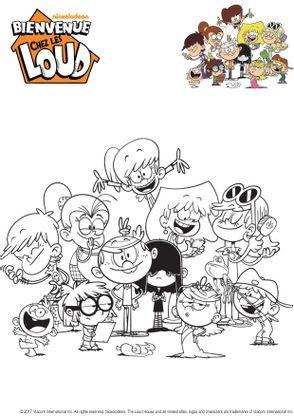 Coloriage la famille loud coloriage bienvenue chez les loud coloriages dessins animes - Tout les dessin a imprimer ...