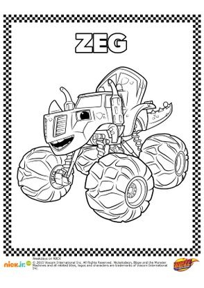 Coloriage zeg coloriage blaze et les monster machines for Cartoni blaze
