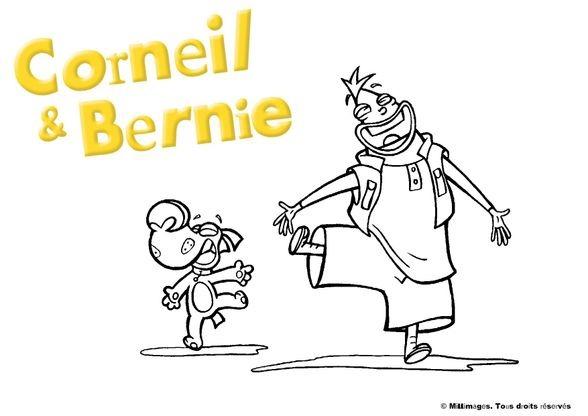 Coloriage corneil et bernie dansent coloriage corneil et bernie coloriages dessins animes - Dessin anime corneil et bernie ...