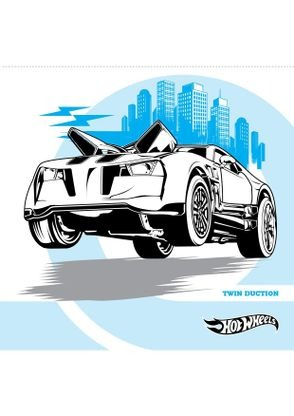 Coloriage twin duction coloriage hot wheels coloriages dessins animes - Coloriage hot wheels ...