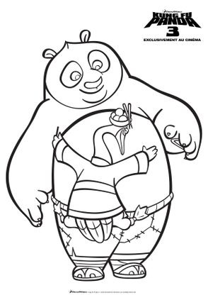 Coloriage po et m ping coloriage kung fu panda 3 - Dessin kung fu panda ...