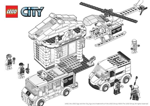 Coloriage lego city le cambriolage du mus e coloriage - Dessin de lego city ...