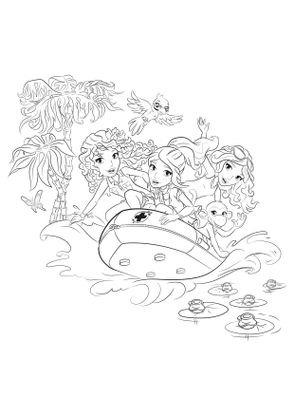 coloriage coloriage friends bateau coloriage lego friends coloriages dessins animes. Black Bedroom Furniture Sets. Home Design Ideas