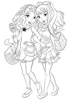 Coloriage coloriage friends mall coloriage lego friends - Coloriage lego friends ...