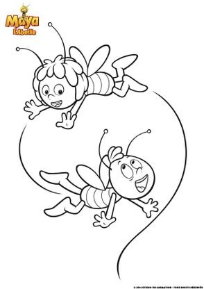 Coloriage maya et willy s 39 amusent coloriage maya l - Maya l abeille coloriage ...