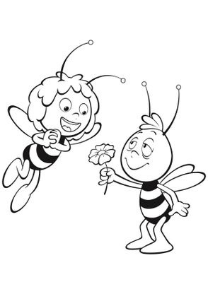 Coloriage willy et maya coloriage maya l abeille - Maya l abeille coloriage ...