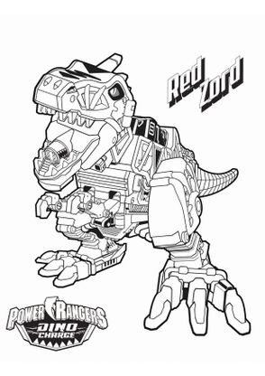 Coloriage red zord coloriage power rangers dinocharge - Power rangers en dessin anime ...