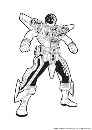 Coloriage power rangers argent en armure coloriage power - Power ranger samurai dessin ...