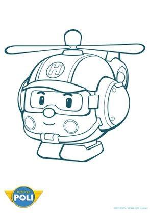 Coloriage robocar poli h li 1 coloriage robocar poli - Dessin anime de robocar poli en francais ...