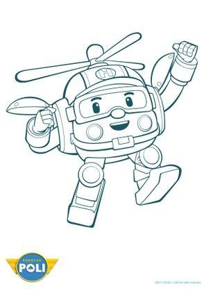 Coloriage robocar poli h li 2 coloriage robocar poli coloriages dessins animes - Dessin anime robocar poli en francais ...