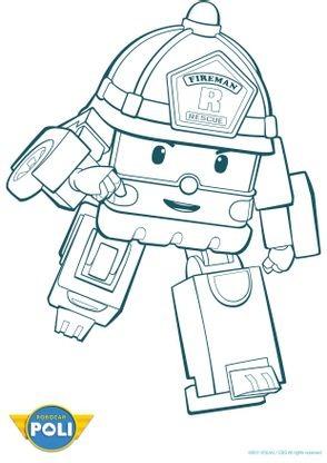 Coloriage robocar poli roi 2 coloriage robocar poli coloriages dessins animes - Dessin anime de robocar poli ...