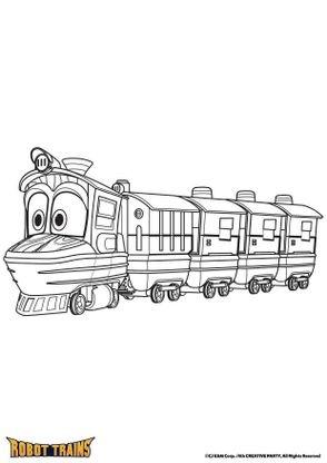 coloriage duck en mode train coloriage robot trains coloriages dessins animes. Black Bedroom Furniture Sets. Home Design Ideas