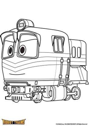 coloriage la locomotive alf coloriage robot trains coloriages dessins animes. Black Bedroom Furniture Sets. Home Design Ideas