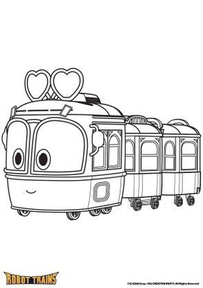 coloriage selly en mode train coloriage robot trains coloriages dessins animes. Black Bedroom Furniture Sets. Home Design Ideas