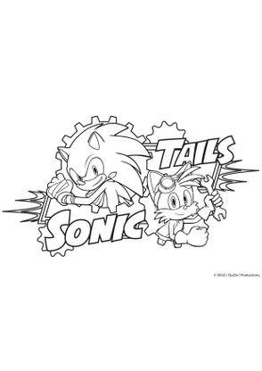 Coloriage tails et sonic coloriage sonic boom - Dessin anime boom ...