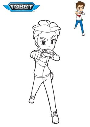 Coloriage dylan coloriage tobot coloriages dessins animes - Coloriage tobot ...