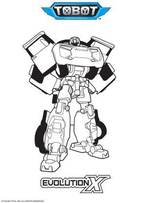 Coloriage evolution x coloriage tobot coloriages dessins animes - Coloriage tobot ...