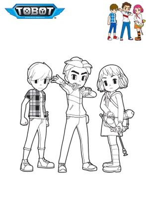 Coloriage ryan dolly et dylan coloriage tobot coloriages dessins animes - Coloriage tobot ...