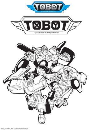 Coloriage tobot coloriage tobot coloriages dessins animes - Coloriage tobot ...