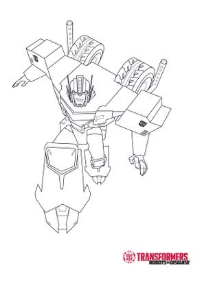 Coloriage optimus 1 coloriage transformers robots in - Dessin anime transformers ...