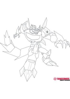 Coloriage steeljaw 1 coloriage transformers robots in - Dessin anime transformers ...