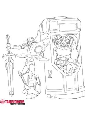 Coloriage stelljaw et bumblebee 2 coloriage transformers - Dessin anime transformers ...