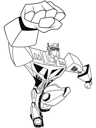 Coloriage transformers optimus prime 6 coloriage - Dessin anime transformers ...