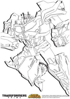 Coloriage Transformers prime Beast Hunters : Optimus Prime ...