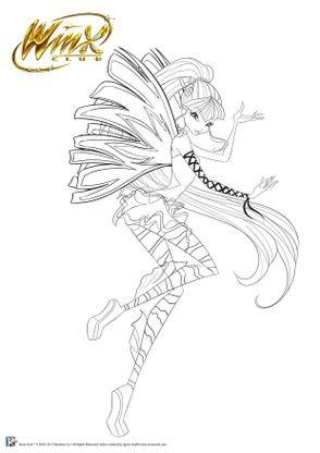 Coloriage winx club musa f e de la musique coloriage winx club coloriages dessins animes - Dessin anime des winx club ...