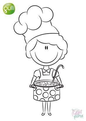 Coloriage un chef ma porte 4 coloriage un chef a ma - Coloriage cuisinier ...