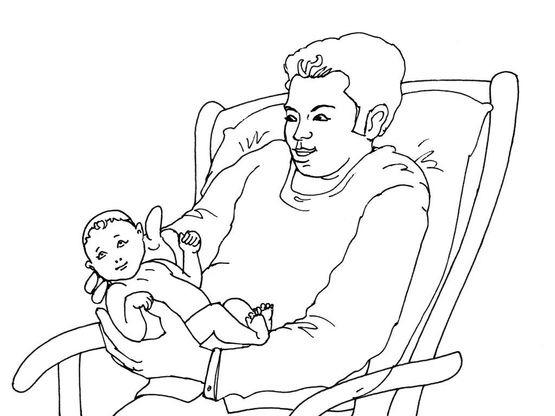 Coloriage naissance 11 coloriage naissances coloriages fetes - Naissance dessin ...