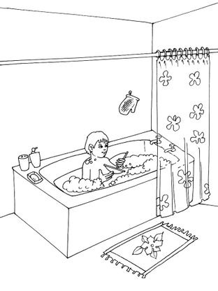 coloriage bain 1 coloriage bain coloriages maison. Black Bedroom Furniture Sets. Home Design Ideas