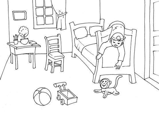 coloriage chambre 29 coloriage chambre coloriages maison. Black Bedroom Furniture Sets. Home Design Ideas