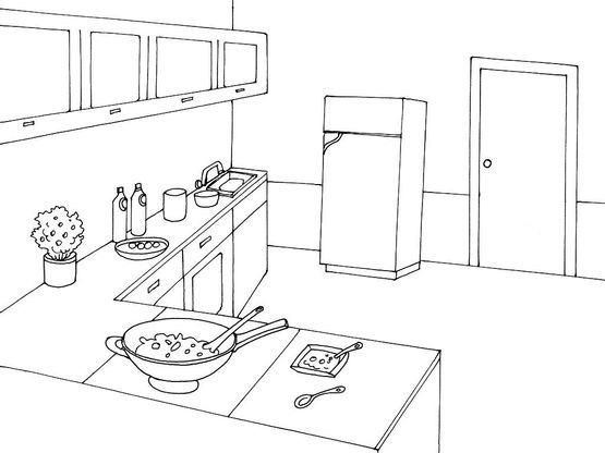Coloriage cuisine 10 coloriage cuisine coloriages maison - Coloriage cuisine ...