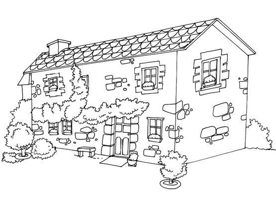 coloriage maison 11 coloriage maison coloriages maison. Black Bedroom Furniture Sets. Home Design Ideas