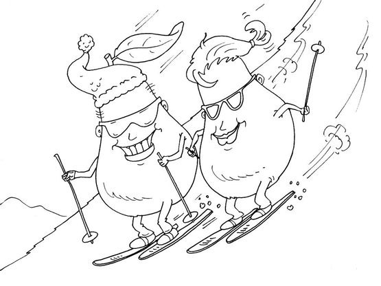 Coloriage ski 28 coloriage ski coloriages nature - Coloriage ski ...