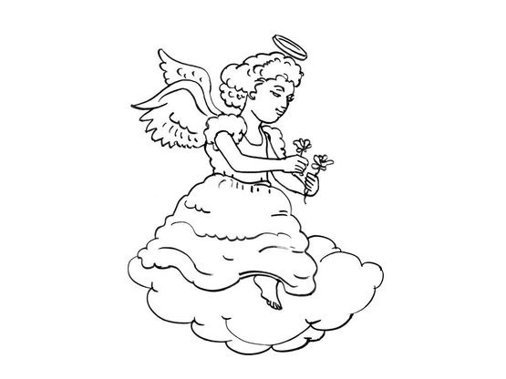 Coloriage ange 10 coloriage anges coloriages personnages - Coloriage ange ...