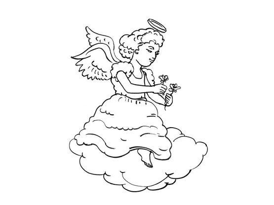 Coloriage ange 10 coloriage anges coloriages personnages - Coloriage ange ...