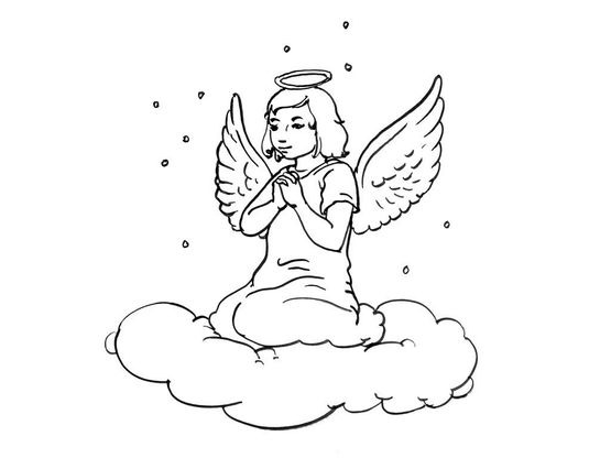 Coloriage ange 11 coloriage anges coloriages personnages - Coloriage ange ...