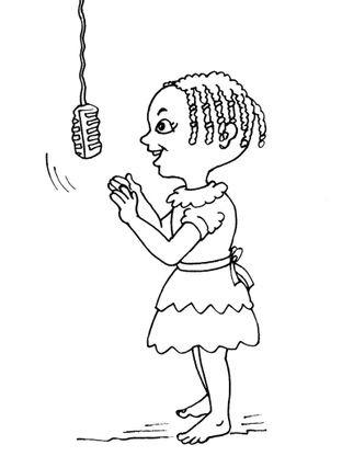 Coloriage petite africaine 23 coloriage enfants filles - Coloriage personnage fille ...