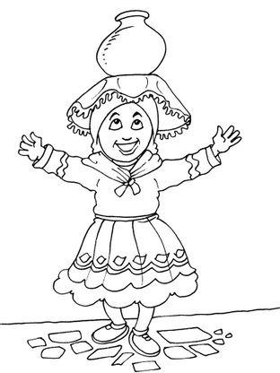 Coloriage petite fille inca 20 coloriage enfants filles - Coloriage personnage fille ...