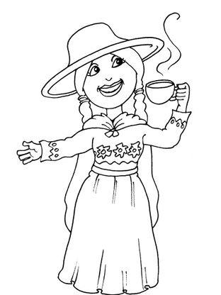 Coloriage petite fille inca 25 coloriage enfants filles - Coloriage personnage fille ...