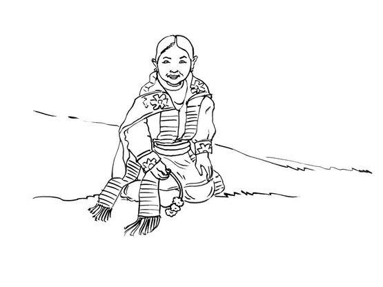 Coloriage petite fille inca 3 coloriage enfants filles - Coloriage personnage fille ...