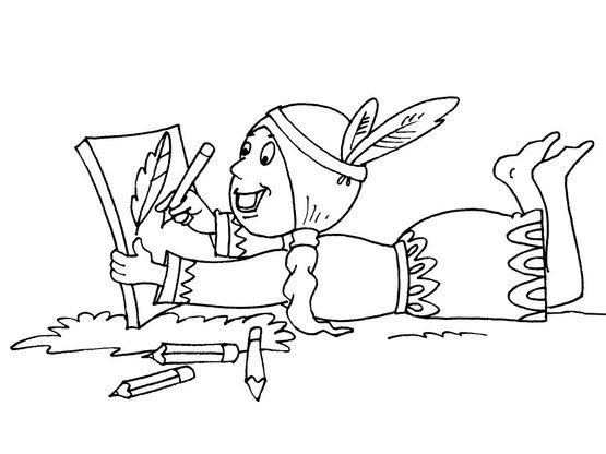 Coloriage petite indienne 26 coloriage enfants filles - Coloriage personnage fille ...